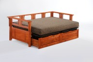 Daybed Extension Drawers Cherry & Sliding Top in Black