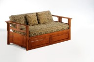 Teddy R Daybed Cherry w Drawers closed