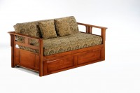 Teddy R Daybed Cherry w  Trundle closed