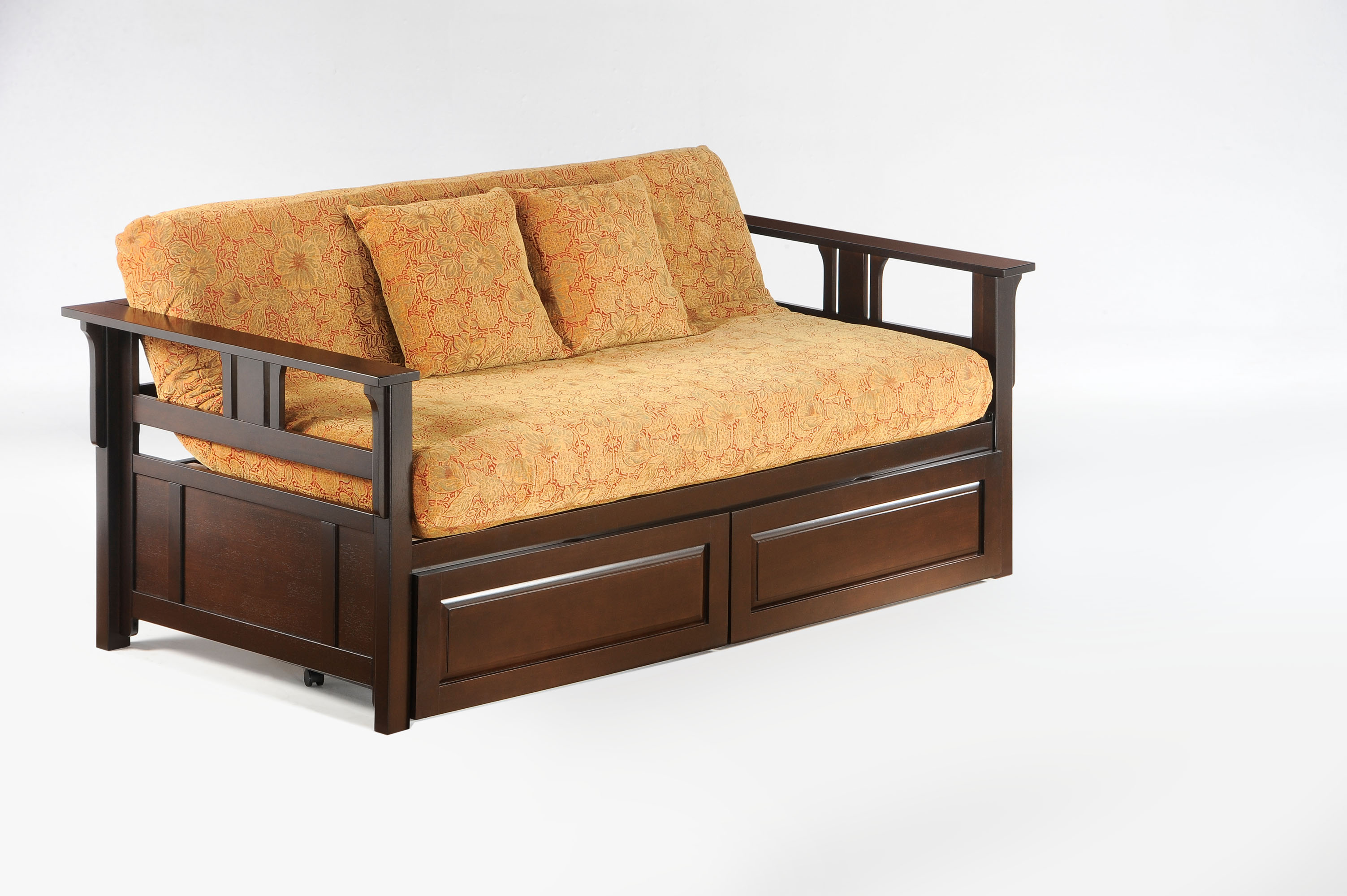 teddy r daybed dark chocolate w drawer closed     teddy roosevelt daybed frame   iowa city futon shop  rh   iowacityfutons