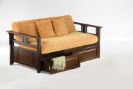 Teddy R Daybed Dark Chocolate w Drawer opened