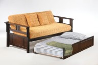 Teddy R Daybed Dark Chocolate w Trundle opened