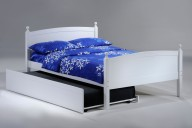 Licorice Bed Full White w Trundle opened