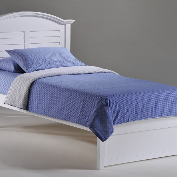 Sandpiper Bed Twin White w K-Series Basic Footboard